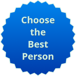Choose the Best Person